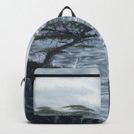 Rocky Coast, Windswept Coast Painting Backpack