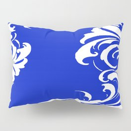 Damask Blue and White Pillow Sham
