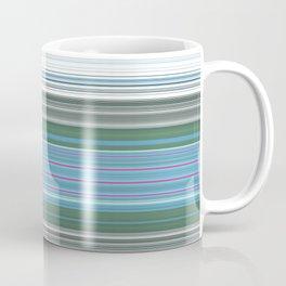 Sky Blue Green Stripes Coffee Mug