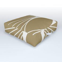 Diamond Series Floral Diamond White on Gold Outdoor Floor Cushion