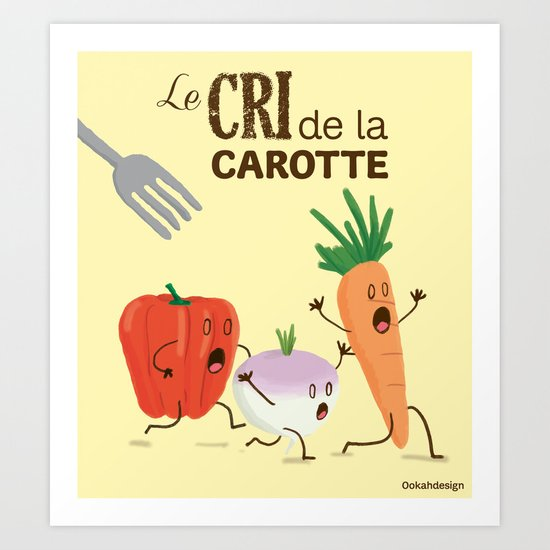 Carrot Escape Art Print