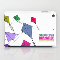 rushmore iPad Cases featuring Rushmore Movie Poster by FunnyFaceArt
