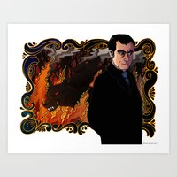 crowley Art Prints featuring Crowley by Catus