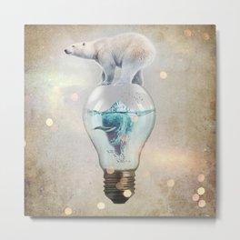 Polar Bear Ice Cap Metal Print