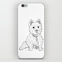 westie iPhone & iPod Skins featuring Westie Sketch by Circus Dog Industries