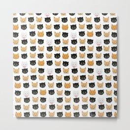 good kitty-bad kitty pattern Metal Print