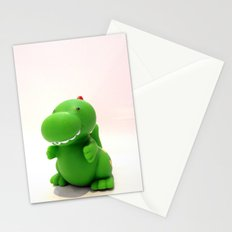 Happy Green Dinosaur Stationery Cards