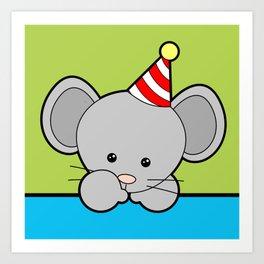Party Mouse Art Print
