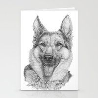 german Stationery Cards featuring German shephard by Doggyshop