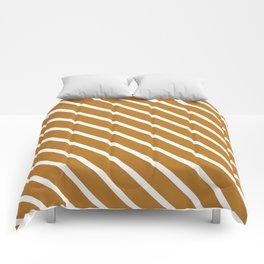 Peanut Butter Diagonal Stripes Comforters
