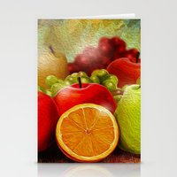 fruits Stationery Cards featuring fruits by ErsanYagiz