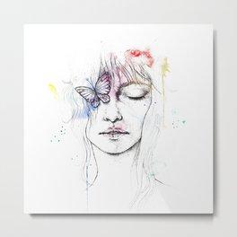 Colorful Woman Metal Print
