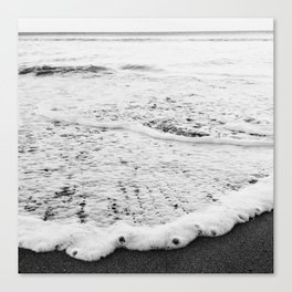 Rushing in - black white Canvas Print