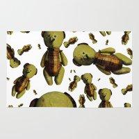 teddy bear Area & Throw Rugs featuring Teddy-bear by Кaterina Кalinich