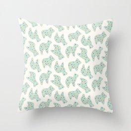 Animal Cookies - Mint Throw Pillow