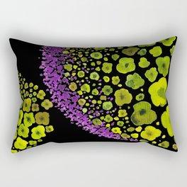 Paths of Color [green & purple] Rectangular Pillow