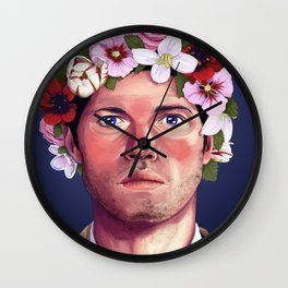 A Halo of Flowers Wall Clock