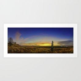 Sunset Denamark, panorama picture Art Print