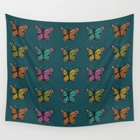 wings Wall Tapestries featuring Wings by Casey Spencer