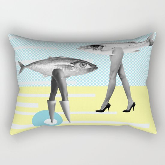 at beach Rectangular Pillow