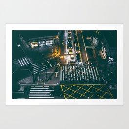 Night walking street 4 Art Print