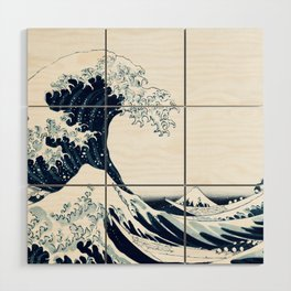 The Great Wave - Halftone Wood Wall Art