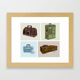 LOST Luggage (Composite). Framed Art Print
