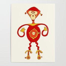 Robot Alien Monster No 187 Poster