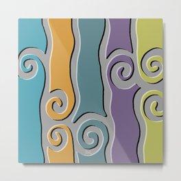 Tangier Tile Metal Print