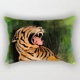 Vintage watercolor Tiger Rectangular Pillow