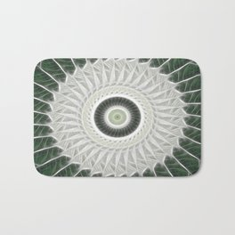 White Poinsettias Kaleidoscope 4 Bath Mat
