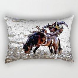 The Dismount   -   Rodeo Cowboy Rectangular Pillow