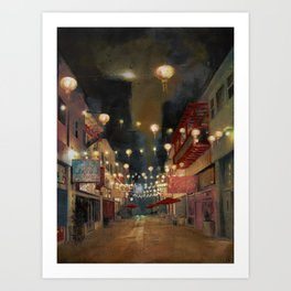 Lights on Chung King Art Print