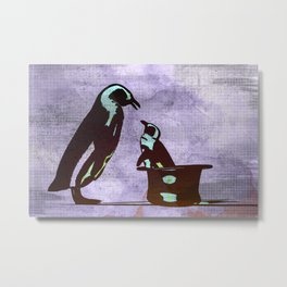Happiness is a Penguin In A Top Hat Metal Print
