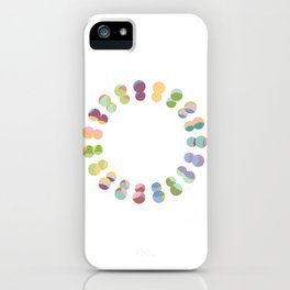 O | Fun Colourful Bouncy Typography iPhone Case