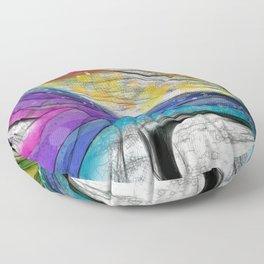 POPCORN ON MARS Abstract Floor Pillow