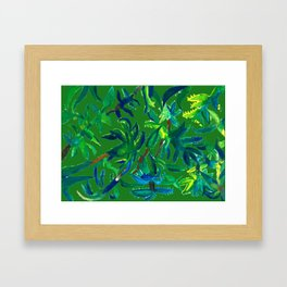 Cactus Abstract With Background Framed Art Print