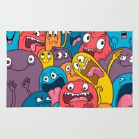 weird Area & Throw Rugs featuring Weird Bros by Chris Piascik