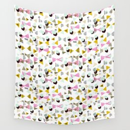 Dotty Tri abstract minimal texture brushstroke boho minimalism painting hipster geometric dorm  Wall Tapestry
