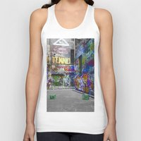 melbourne Tank Tops featuring Melbourne Graffiti by Another Alex