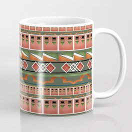 Colorful tribal ethnic ornament . Coffee Mug