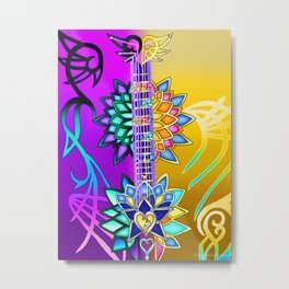 Fusion Keyblade Guitar #3 - Ultima Weapon (KH1) & Combined Keyblade Metal Print