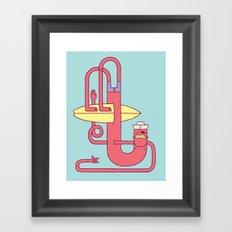 Go Surfing Framed Art Print