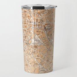 Vintage Map of Antwerp Belgium (1905) Travel Mug