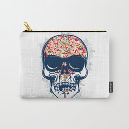 Dead Skull Zombie with Brain Carry-All Pouch