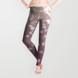 PLUM PURPLE AND GOLD CHAMPAGNE GLITTER LIGHTS Leggings