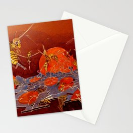 Surreal Hornets Stationery Cards