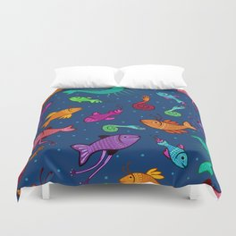 extraordinary sea creatures Duvet Cover