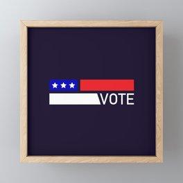 Vote Framed Mini Art Print