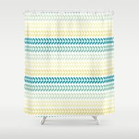 knit Shower Curtains featuring Knit 1 by K&C Design